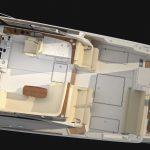 Hinckley Sport Boat 40x Top View Gray Hull