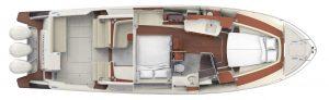 Hinckley Sport Boat 40x Interior Plan - Berth