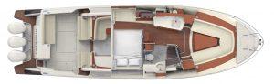 Hinckley Sport Boat 40x Interior Plan - Setee