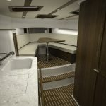 Hinckley Sport Boat 40x_Interior Looking Forward 2