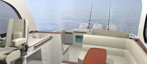 Hinckley Sport Boat 40x_Looking Aft