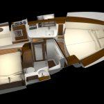 Hinckley Sport Boat 40x_Overhead Berth