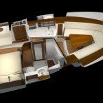 Hinckley Sport Boat 40x_Overhead Settee
