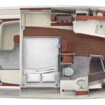 Hinckley Sport Boat 40x_Plan Interior_Berth