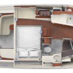 Hinckley Sport Boat 40x_Plan Interior_Settee
