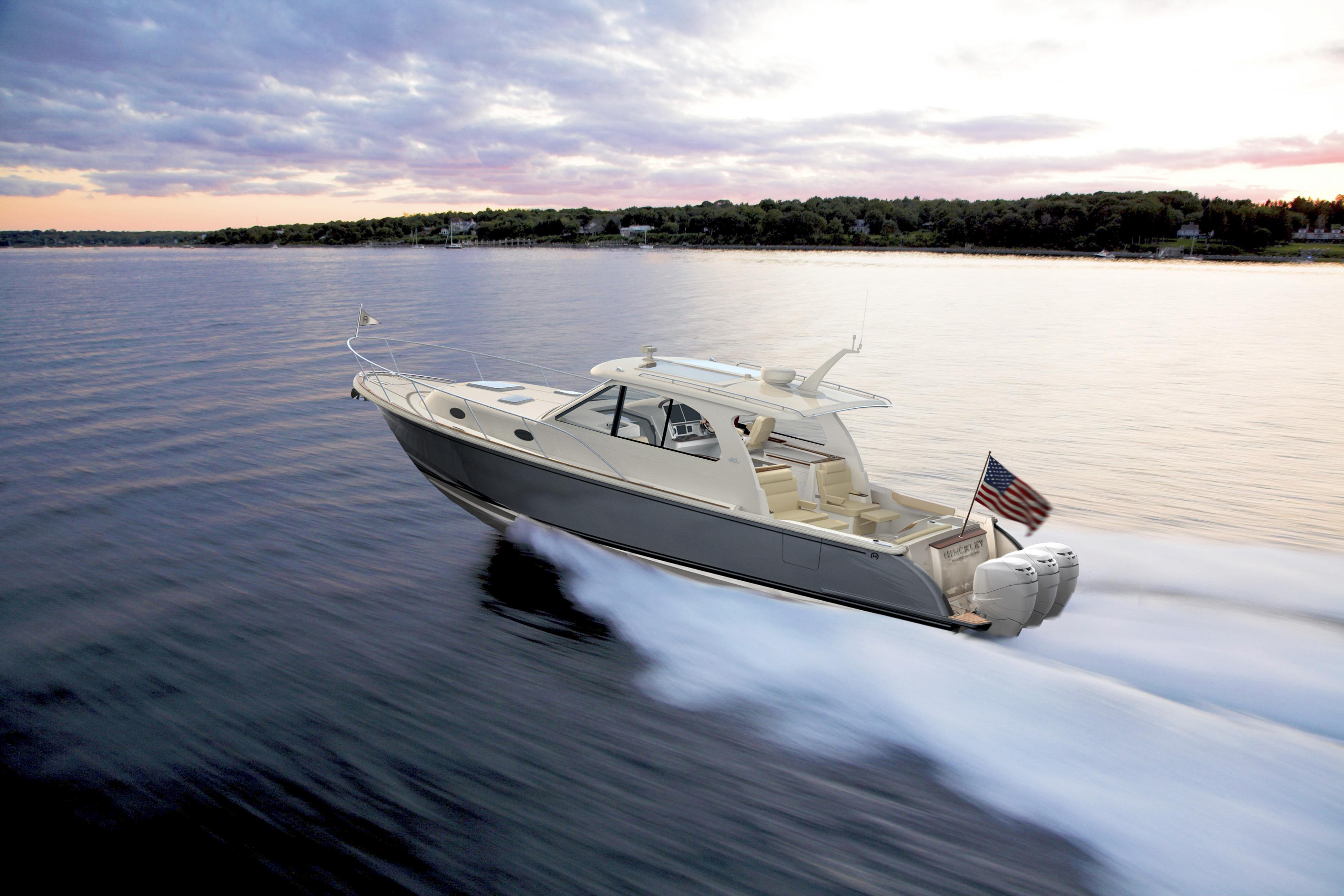 Hinckley Sport Boat 40x_Running