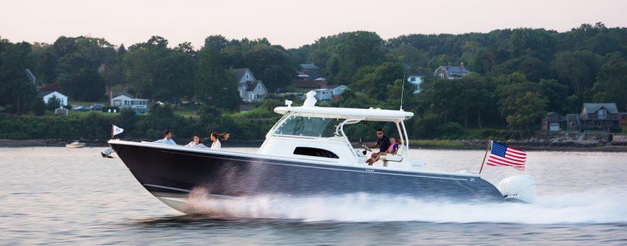 Hinckley Sport Boat 40c Video